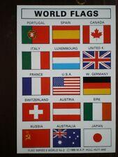 POSTCARD WORLD FLAGS PORTUGAL - JAPAN