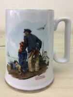NORMAN ROCKWELL - Looking Out To Sea, Vtg 1985 White Mug Coffee Tea Cup
