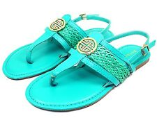 Nadya-15 Blink Gladiator Buckles Flats Comfort Sandals Women Shoes Sea Green 8