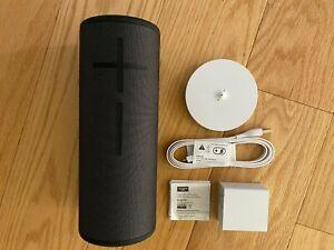 New Logitech Ultimate Ears MEGABOOM 3 Portable BT Speaker+Charging Dock Black