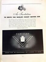1938 Cadillac V16 Finest Vintage Advertisement Print Art Car Ad Poster LG73