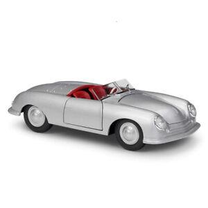 WELLY 1:24 1948 1948 PORSCHE 356 NR. 1 ROADSTER  DIECAST MODEL CAR 24090SIL