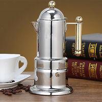 Italian Coffee Maker Stainless Steel Moka Percolator Pot Stovetop Espresso
