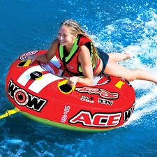WOW Watersports Ace Racing 1 Rider Inflatable Water Tube Boat Towable 15-1120