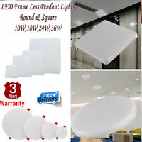 Bright Square Round LED Ceiling Down Light Panel Light Fittings Kitchen Bathroom