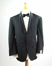 Major Oaks Men's Classic Fit Black Wool Dinner Suit Jacket 50 Inch Chest Long