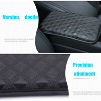 Black Car Cushion Armrest Pad Lid Center Console Cover Leather Universal vehicle
