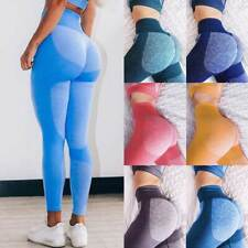 Yoga Pantalones Leggings para Mujer Sin Costuras Push Up Cintura Alta Pantalones de ejercicio Booty un