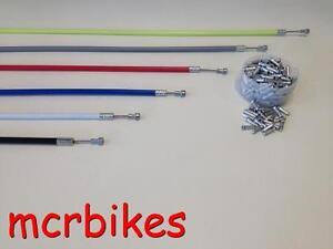 Quality Road Bike Pear End Brake Cable & Housing Front/ Rear + *FREE END CRIMP*