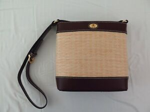 "ETIENNE AIGNER Crossbody Purse Bag Brown 7.5"" W x 7"" H x 2.75"" D"