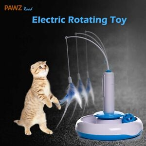 Cat Toy Kitten Electric Rotating Feather Teaser Automatic interactive Funny Toys