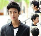 Handsome Boys Wig Korean Fashion Men's Short 50% Human Hair Cosplay Wigs PO258