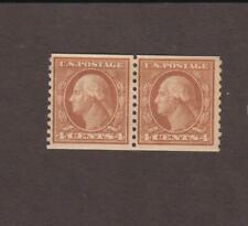 US,495,COIL PAIR,WASHINGTON-FRANKLIN,EARLY 1900'S  COLLECTION MINT NH,OG