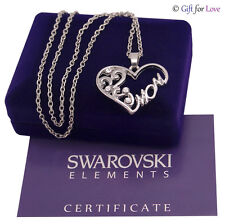 Collana argento Swarovski Elements originale G4Love cristalli cuore regalo mamma