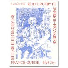 SUEDE CARNET C1794 (6 TIMBRES) EMISSION COMMUNE (1994) : relations culturelles