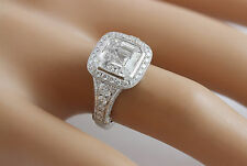 Pave Diamond Engagement Ring A41 3.95Ctw Asscher Cut Antique Style