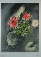 Marc Chagall Frau Strauß und Vogel Kunstdruck G-5948