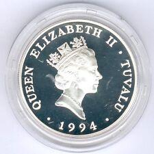 Tuvalu 20 Dollar 1994 World Cup Soccer 31,47g 925er Silber KM#22, PP-