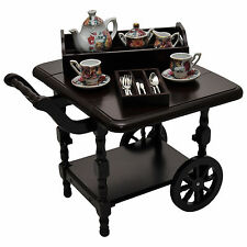 "Tea Cart,China Tea Set +Utensils,Furniture Accessory for 18"" American Girl Dolls"