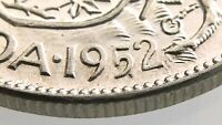 1952 WD Wide Date Canada 50 Cents Half Dollar Circulated Silver Coin R629