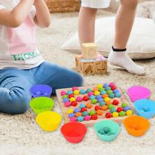 Montessori Holzperlen Spiel Sortieren Zählspielzeug Pädagogisches
