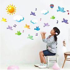 Nube de pájaros pegatinas de pared nuevo arte cartel habitación pared decoración hogar Bricolaje Calcomanía Pegatinas