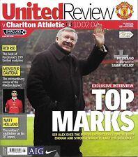 Football Programme>MAN UTD v CHARLTON ATHLETIC Feb 2007