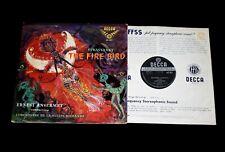 SXL 2017 Decca Stravinsky THE FIRE BIRD  First Recording Ernest Ansermet.