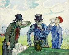 The Drinkers by Vincent Van Gogh - Giclee Canvas Print Repro
