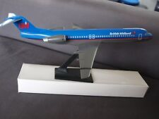 British Midland Fokker 100 Push Fit Model 1:100 Scale -  New &  Boxed