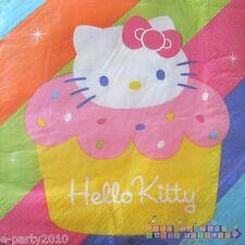 HELLO KITTY Cupcake SMALL NAPKINS (16) ~ Birthday Party Supplies Beverage Sanrio