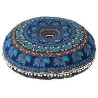 "Pillows 32"" Round Floor Meditation Cushion Cover Ottoman Pouf Large Mandala Art"