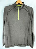 Tommy Bahama Long Sleeve 1/4 Zip Pullover Sweater Mens Gray Brown Green Size M