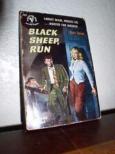 Black Sheep Run by Bart Spicer (Bantam #1049,1'st Prt., Oct.. 1952,Paperback)