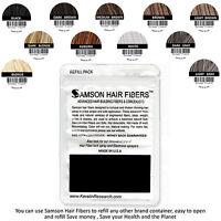 SAMSON Hair Building Fibers DARK BROWN 100gr Concealer made USA refills & more