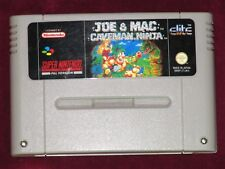 Super Nintendo-Joe & Mac cavernícola Ninja! juego DE CARTUCHO PAL SNES UKV Raro Dinos