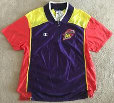 Vtg Phoenix Mercury Polo Champion 90s Color Block Women's L NWT Satin Deadstock
