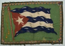 "1900'sl Antique Large Cuba Flag Tobacco Felt 10 3/4"" X 7 3/8"""