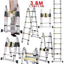 3.8 m Multi Purpose PIEGHEVOLE TELESCOPICO IN ALLUMINIO SCALETTA ALLUNGABILE UK