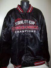 2013 CHICAGO BLACKHAWKS Stanley Cup Championship Satin Jacket S M L 2X, 4X, 6x