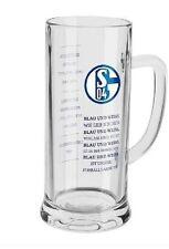 """FC Schalke 04  Bierkrug """" Erfolge - Blau und weiß... """" ( Bierglas / Glas)"""