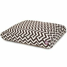Chocolate Chevron Extra Large Rectangle Indoor Outdoor Pet Dog Bed With Remov.