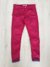 MOTO @ TOPSHOP 'LEIGH' BRIGHT PINK L'WEIGHT STRETCH SKINNY JEANS W28 L30 UK 10
