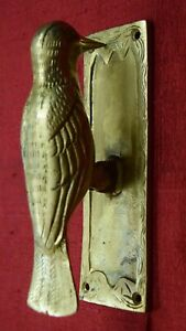 Bird Shape Decorative Door Bell Gate Knocker Woodpecker Style Antique Gift VR642