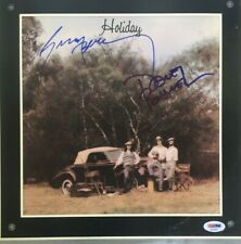 AMERICA Band Signed HOLIDAY Vinyl RECORD Album Dewey Bunnell GERRY BECKLEY PSA