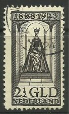 NETHERLANDS. 1923.  2g50 Black Brown Accession Issue. SG: 268. Fine Used.
