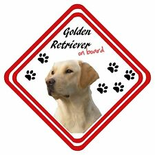 Golden Retriever On Board Car Sign Personalised Have it Your Way
