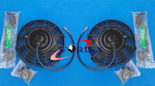 "Universal 2*12"" ELECTRIC RADIATOR slim Cooling FAN THERMO FAN & MOUNTING KITS"