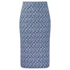 Seasalt Considérant Pretty Tile Bleu Marine genou jupe A-ligne RRP £ 49.95 UK 8-18