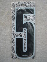 """old school BMX HARO White w// Black number plate Stadium Numbers # 6 NOS 7/""""  GT"""